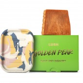 Golden Pear Soap and Dish Set